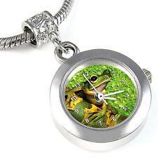 Frog Silver Bracelet European Charm Bead Watch EBA149