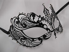 Venetian Style Laser Cut  Metal Filigree Masquerade Party Mask Diamante F2