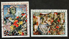 Timbre TCHAD / CHAD Stamp - Yvert et Tellier Aérien n°73 et 74 Obl (COL7)