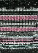 "Retro Printed JERSEY VISCOSE Stretch Fabric Material 60"" Width  Black/Pink"