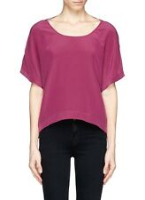 ELIZABETH AND JAMES 'Gale' Silk Crepe Blouse Top Size L NWT $245