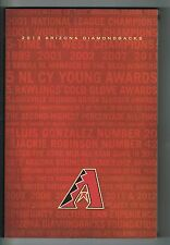 2013 Arizona Diamondbacks Baseball MLB Media Guide