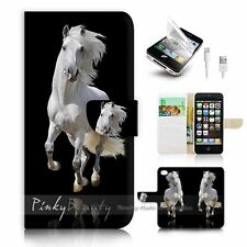 iPhone 5 5S Flip Wallet Case Cover! P0824 Horse