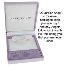 Equilibrium Silver Plated Guardian Angel Open Bangle 54472