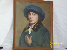 Antique French c1913 After Lucien Jonas Original Oil On Canvas Portrait Painting