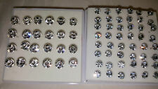 Joblot 36 pairs 5mm&7.5mm Hypoallergenic Diamante stud Earrings - NEW Wholesale