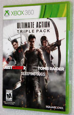 Ultimate Action Triple Pack Just Cause 2 Tomb Raider - Microsoft XBOX 360 - NEW