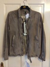 "BNWT GIORGIO BRATO DISTRESSED HAND DYED LEATHER BIKER JACKET UK 38""/Italian 48."