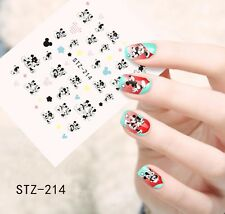 Nail Art Water Decals Stickers Transfers Mickey Minnie Mouse Bows Heart (STZ214)