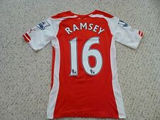 NWT Puma 2014/2015 Arsenal #16 Aaron Ramsey Authentic Red Home Jersey (LARGE)