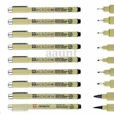 9pcs Sakura Micron Fine Liner Drawing Ink Pens & Brush Art Painting Supplies