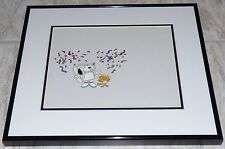 SNOOPY WOODSTOCK FRAMED ORIG PRODUCTION CEL SETUP NASA SPACE STATION MINI SERIES