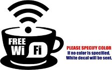 Vinyl Decal Sticker - Free WIFI Sign Car Truck Bumper Window Laptop JDM Fun 6""