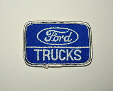 2 Vintage Ford Trucks Blue Oval Automotive Car Cloth Patch New NOS 1980s Truck