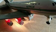 VINTAGE ALITALIA TOY JET AIRPLANE NO 501 HONG KONG BATTERY OPERATED