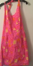 NWT Lilly Pulitzer Barrel of Monkeys pink print halter sundress sz 12