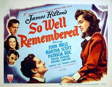 SO WELL REMEMBERED 1947 John Mills, Martha Scott, Patricia Roc LOBBY SET