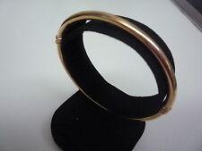 9ct 9k oro giallo braccialetto chiusura a scatto semplice tubo