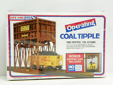 "LIFE-LIKE HO U/A ""OPERATING COAL TIPPLE"" WITH WEIGHTED HOPPER CAR MODEL KIT"
