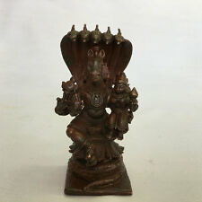 Old antique look Copper hindu god statue of VISHNU as an incarnation
