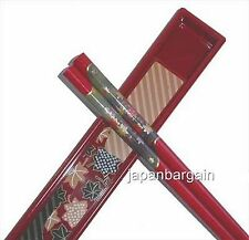 Japanese Travel Portable Chopsticks w/ Case Red #9611 S-2210