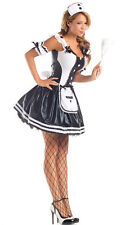 WOMENS LADIES SEXY FRENCH MAID COSTUME HEN DOO FANCY DRESS ROLE PLAY OUTFIT