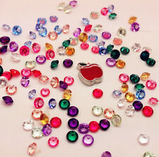 100PCS Mix Floating Charm Heart For Stainless Gems Living Memory Locket PPC56