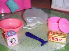 Rement Girls in the City Pink Accessories Barbies Bathroom Lot Razor Bath Cap +