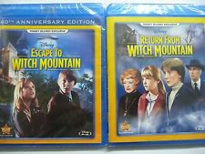 NEW/SEALED - DISNEYS BLU RAY EXCLUSIVE ESCAPE TO & RETURN FROM WITCH MOUNTAIN