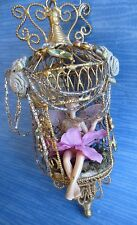 nwt retired katherine's collection pixie fairy angel doll gold throne ornament