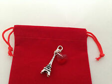 Eiffel Tower Clip on Charm in Red Gift Bag - FREE P&P