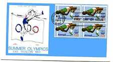 C97 31c High Jumper, Olympics 1980, Colonial, block of 4, FDC