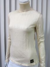 JUST CAVALLI MADE IN ITALY TURTLENECK SWEATER SIZE 8(US) 42(EU) , IVORY