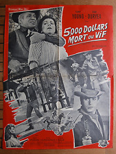 AFFICHE 60 X 80 CM 5000 DOLLARS MORT OU VIF - TAGGART - SPRINGSTEEN -TONY YOUNG