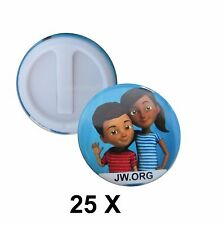 JW.org Pins Caleb & Sophia Buttons for Jehovah's Witnesses - 25 pcs