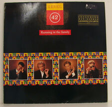 "LEVEL 42 - RUNNING IN THE FAMILY INCL. LESSONS IN LOVE 12"" LP (g381)"