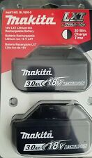 NEW Makita 3.0 AH 18V LXT Lithium Ion Rechargeable Battery 2 Pack BL1830-2