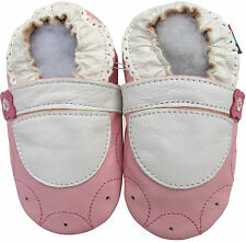 shoeszoo soft sole leather toddler shoes mary jane flower pink 2-3y S