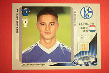 PANINI CHAMPIONS LEAGUE 2012/13 N. 115 AFELLAY SCHALKE 04 BLACK BACK MINT!