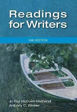 Readings for Writers, Winkler, Anthony C., McCuen-Metherell, Jo Ray, Acceptable