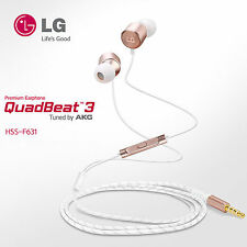 LG HSS-F631 QuadBeat3 Earphones Headphones Turned by AKG For V10   Rose Gold