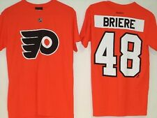 Philadelphia Flyers Reebok NHL Orange T-Shirt Jersey #48 Briere L