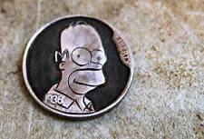 Coalburn Hobo Nickel Love Token carved OHNS Homer Simpson