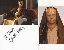 STAR WARS: HASSANI SHAPI 'EETH KOTH' SIGNED 6x4 WHITECARD+2 UNSIGNED PHOTOS+COA