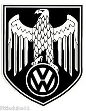 VOLKSWAGEN GERMAN EAGLE Vinyl Sticker Decal VW KOMBI CAR VAN BUS IRON CROSS