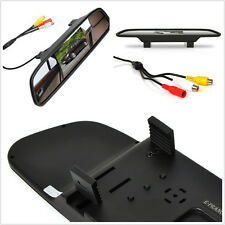 "4.3"" LCD Vehicle Reverse Parking Camera Rearview Mirror Colourful Monitor Screen"