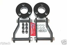 "FITS NISSAN XTERRA 2005-2014 F&R 3"" & 2"" LIFT KIT SPACERS SHACKLES 2WD BK USA"