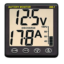 Clipper BM-1 12V Battery Performance Monitor Instrument with 100 Amp Shunt