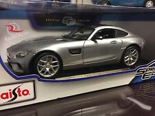 Maisto 1:18 Special Edition Diecast Model Car - Mercedes AMG GT (Silver)