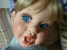 """Adorable 26"""" Fayzah Spanos 1997 """"Oopsy Poopsy"""" Vinyl Doll, LE 185/500, Signed"""